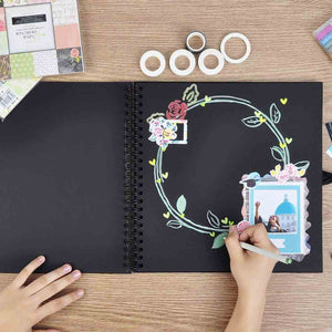 VEESUN Black Scrapbook Photo Album - 3 Size Available