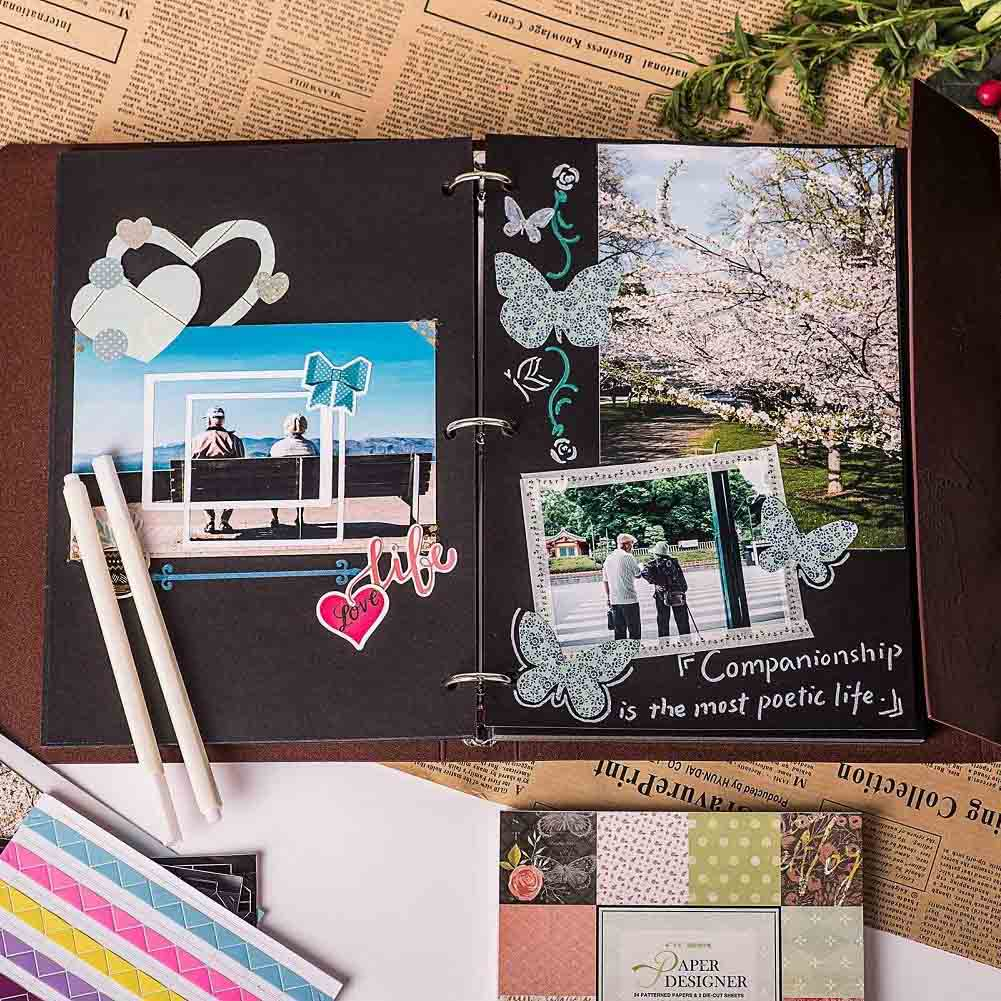 VEESUN Refillable Scrapbook Photo Album-Couple