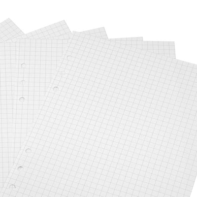 6-hole Grid Refill Pages for A5 Notebooks, 120pcs