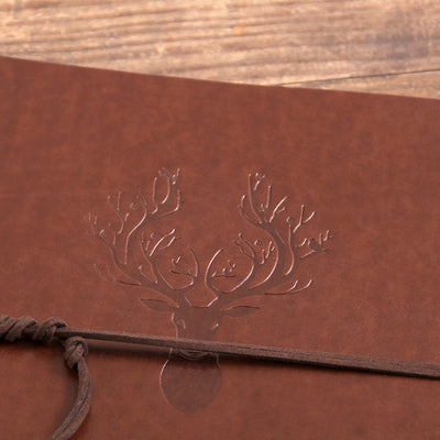 A5 Journal Notebook Refillable Blank Sketchbook - Reindeer
