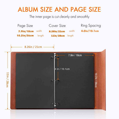 Photo Paper 26x18cm, Refill Pages for Scrapbooks 28x21cm