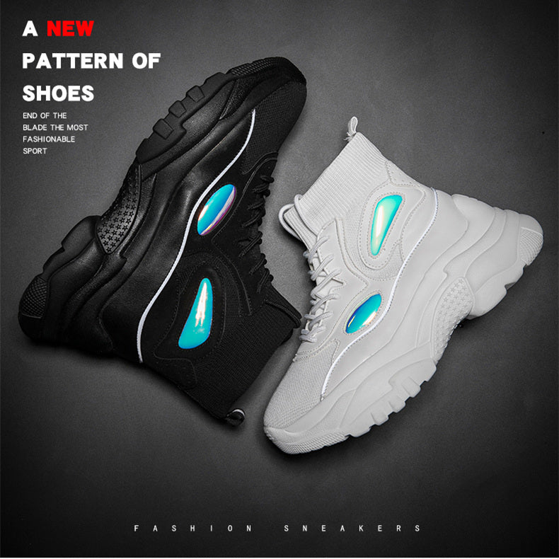 Flat Platform Sneakers Fashion Thick Bottom Casual Chunky Shoes