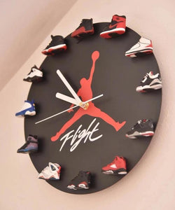Air Jordan 3D Sneaker Clock with 1-12 Mini Sneakers(World Wide Shipping)