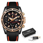 Load image into Gallery viewer, Fashion Top Brand Luxury Multi-function dial Sports Watch Date Waterproof Quartz Clock