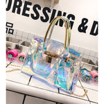 Load image into Gallery viewer, Laser Hologram Women Transparent Bag clutch purse Shoulderbag