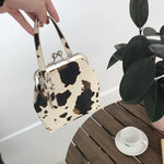 Load image into Gallery viewer, Cow Pattern Clip Women Handbags Designer Brand Lady Crossbody Bags