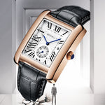 Load image into Gallery viewer, Luxury Brand Square Men WristWatches Unique Design Rose Gold Calendar Watch