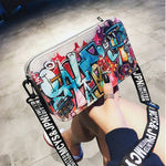 Load image into Gallery viewer, Fashion Ladies Personality European and American Tide Graffiti Zipper Shoulder Bag