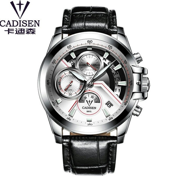 Top Brand Waterproof Mens Fashion Watch Quartz Stainless Steel Wristwatch