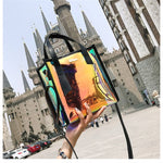 Load image into Gallery viewer, Two-piece Set Women 's Handbags Laser Korean Style Shoulder Bags
