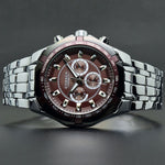 Load image into Gallery viewer, Men's Watch Red Dial Stainless Steel Water Resistant Man Watches