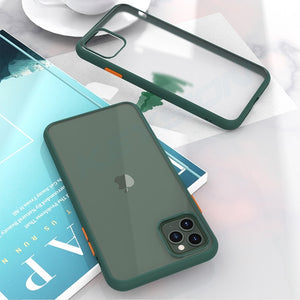 Fashion Matte Case for iPhone 11 Shockproof Transparent Phone back Cover