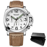 Load image into Gallery viewer, Men's Chronograph Luminous Quartz Watches with Calendar Date Leather Strap