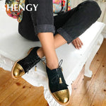 Load image into Gallery viewer, Women's Shoes - Vintage Women Fashion Round Toe Lace Up Oxford Shoes
