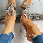Load image into Gallery viewer, High Heels sexy crystals Sandals Female Summer women's Shoes