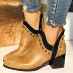 Load image into Gallery viewer, New fashion rivet high heel boots
