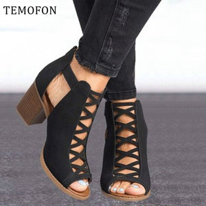 Women's Shoes - 2020 Women Peep Toe Hollow Out Gladiator Sandals