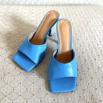 Load image into Gallery viewer, Vintage Square Toe High Heel Sandals Women Solid Open Toe Slipper