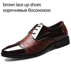 Men Leather Casual Shoes Breathable Oxford Shoe