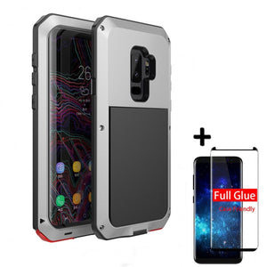 5D Protective Luxury doom Armor Case Metal Shockproof Cover