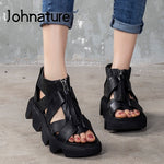 Load image into Gallery viewer, 2020 New Spring Platform Sandals Genuine Leather Women Shoes