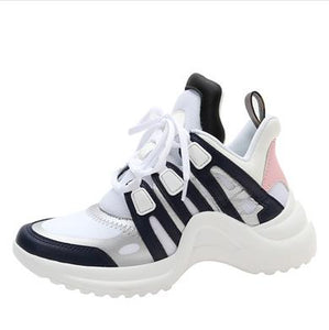 Hot Selling Arched Fashion Shoes Ultra Breathable Mesh Leather Casual Shoes