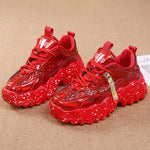 Load image into Gallery viewer, Women Sneakers Chunky Sneakers Glitter Platform Sneakers