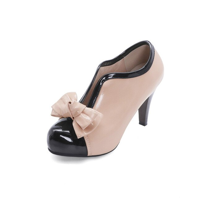 New High Heels Shoes Fashion Bowknot  Ladies Shoes