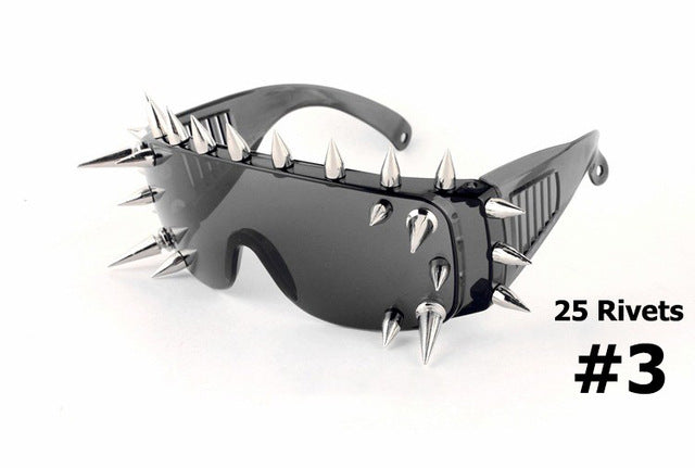 JackJad New Rivet Spike Decoration Wild Rock SteamPunk Sunglasses