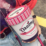 Load image into Gallery viewer, New ice cream cup design women handbag pink bucket bag