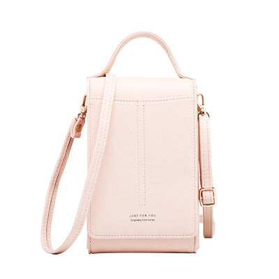 Ladies Shoulder Bag Fashion Solid Color Long Paragraph Slung Portable Multifunction