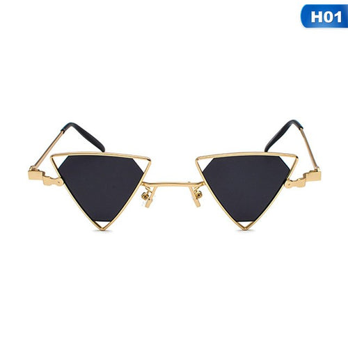 Vintage Punk Triangle Sunglasses Metal Frame Retro Shades