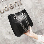 Load image into Gallery viewer, Chain Shoulder Messenger Bag PU Leather Rivet Large Capacity Bags