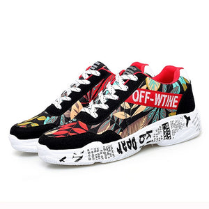 2019 Sping Woman Casual Fashion Sneakers Graffiti Flats
