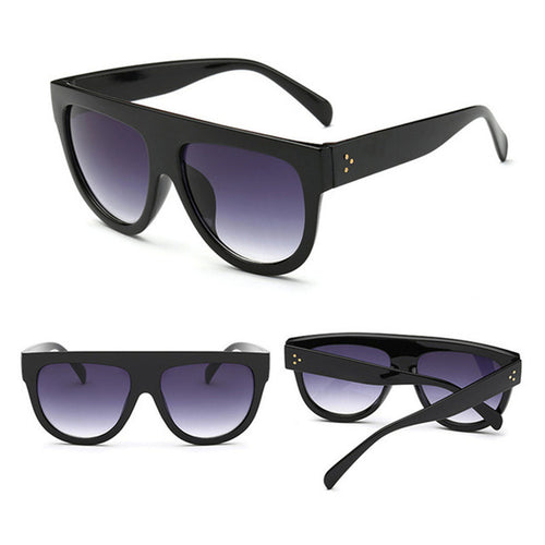 Retro Sunglasses Women  Square Oversized Brand Designer UV400