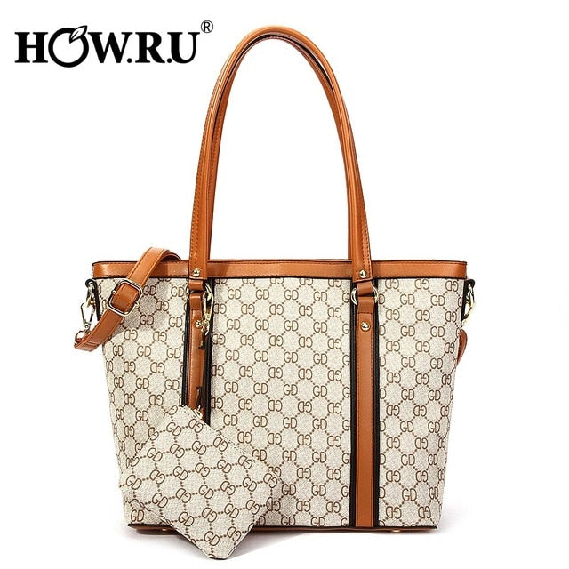 Women Bags Famous Brand Tote Bags with Long Handles Large Capacity Shoulder Bag Luxury Handbags with Coin Purses