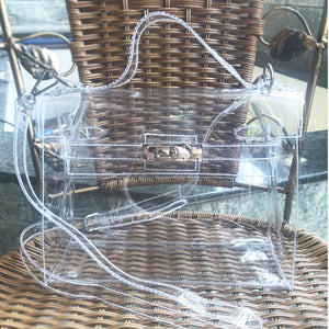 Women Designer Jelly Bag Luxury Pvc Transparent Handbags
