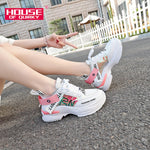 Load image into Gallery viewer, Female Breathable Sneakers Sexy Round Toe Thick Bottom Sports Shoes