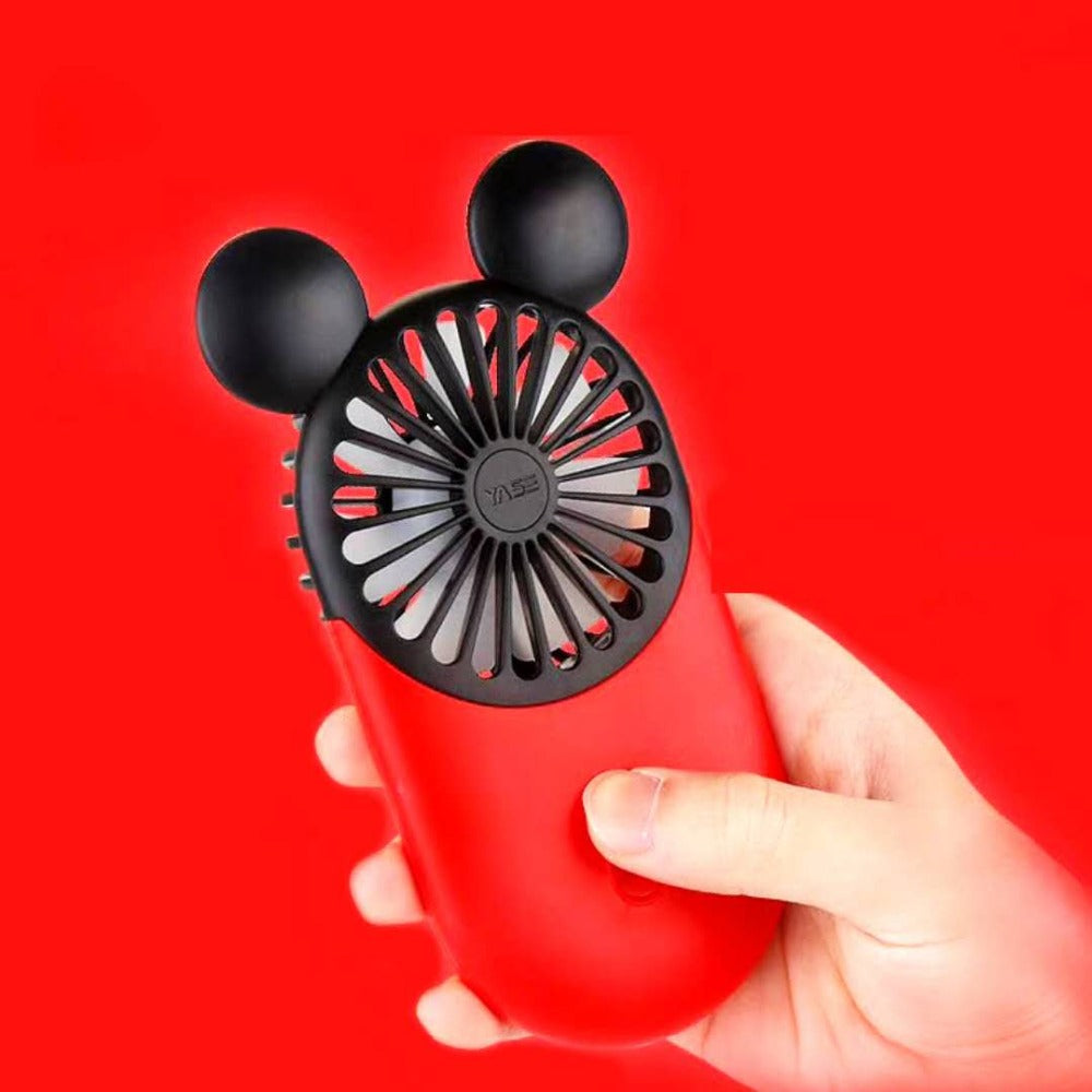 Fan 2019 Newest Creative Mini Cartoon Mickey Fan Handheld 3 Colors