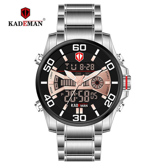 Fashion Sport Watch Men Top Brand Luxury Waterproof Full Steel Wristwatch