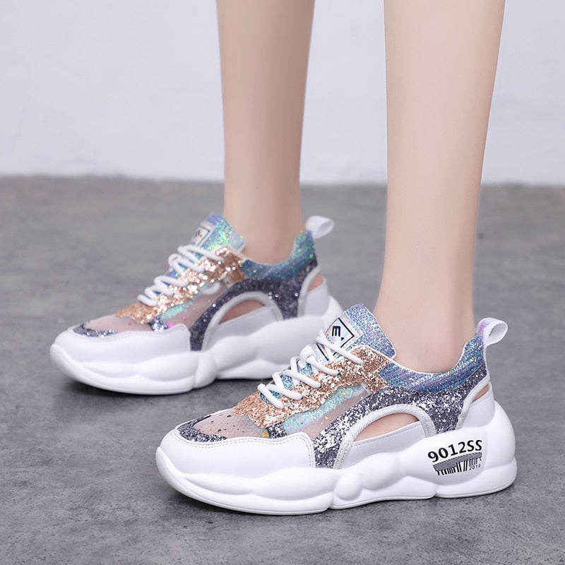 women sporting sandalias chunky sole wedges shoes for woman casual sneakers