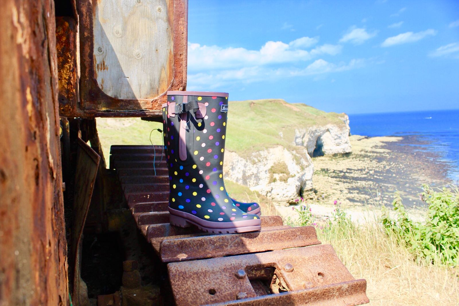 Storing your welly boots away for the summer.