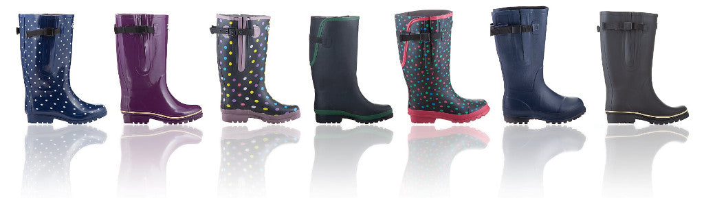 Wide Calf Wellington Boots