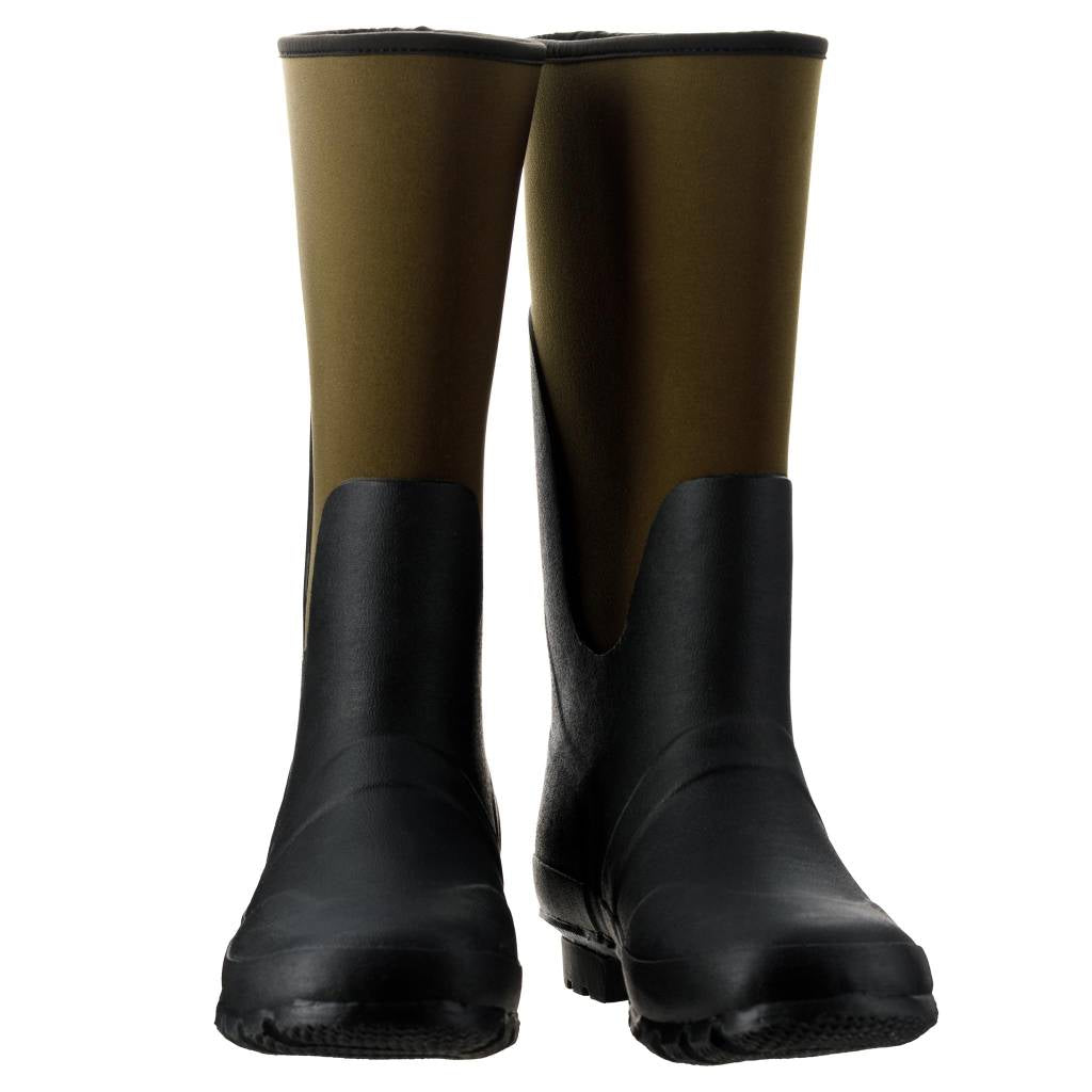 Extra Wide Calf Green Neoprene Wellies by Jileon