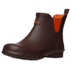 Ankle Wellies - Chocolate and Orange Trim - Wide Foot by Jileon