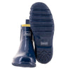 Ankle Wellies - Navy Gloss - Wide Foot by Jileon