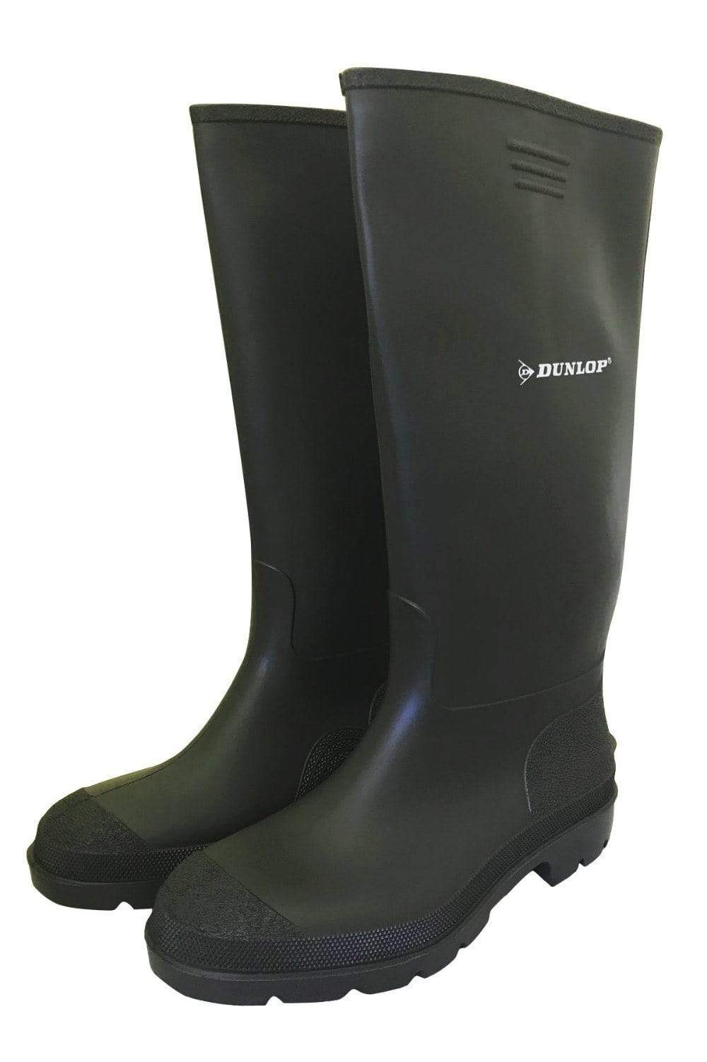 Budget Master Black Wellies by Dunlop - Wide Calf Wellies for Women