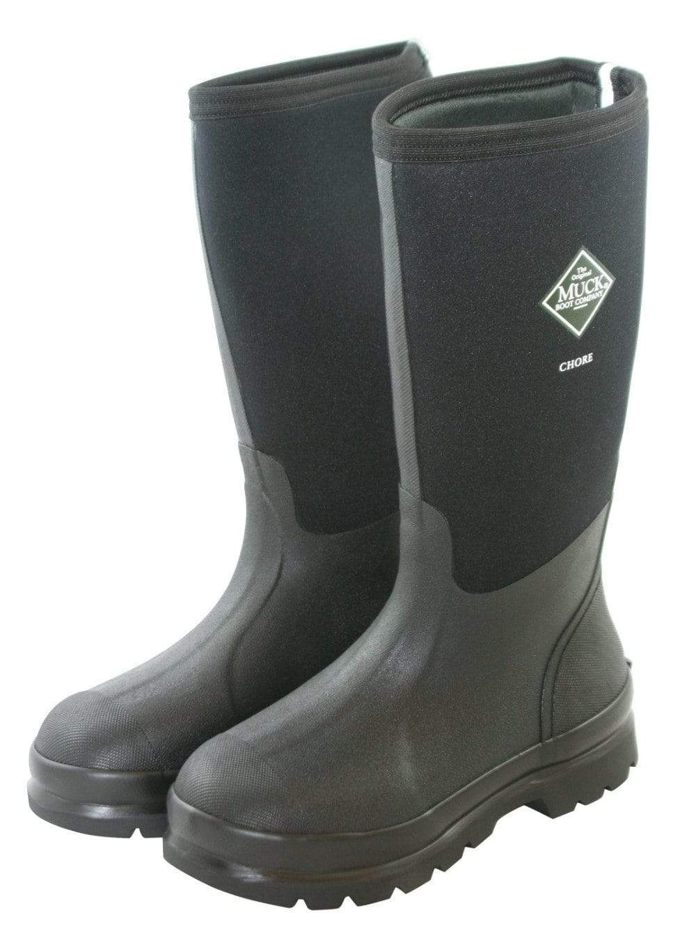 Chore Hi Black - Neoprene by Muck Boots - Wide Calf Wellies for Women