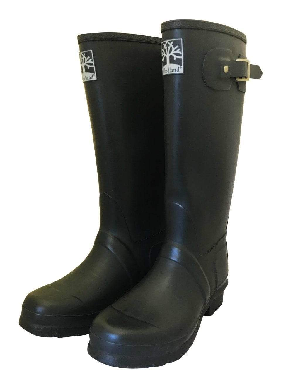 Durable Navy Country Wellies by Woodlands - Wide Calf Wellies for Women