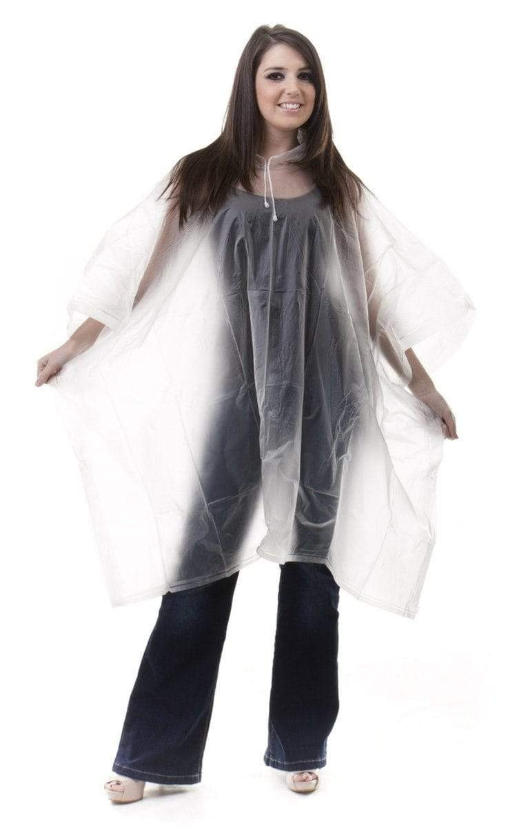 Transparent Disposable Rain Poncho - Wide Calf Wellies for Women